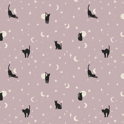 Moonstruck Cats in Lilac