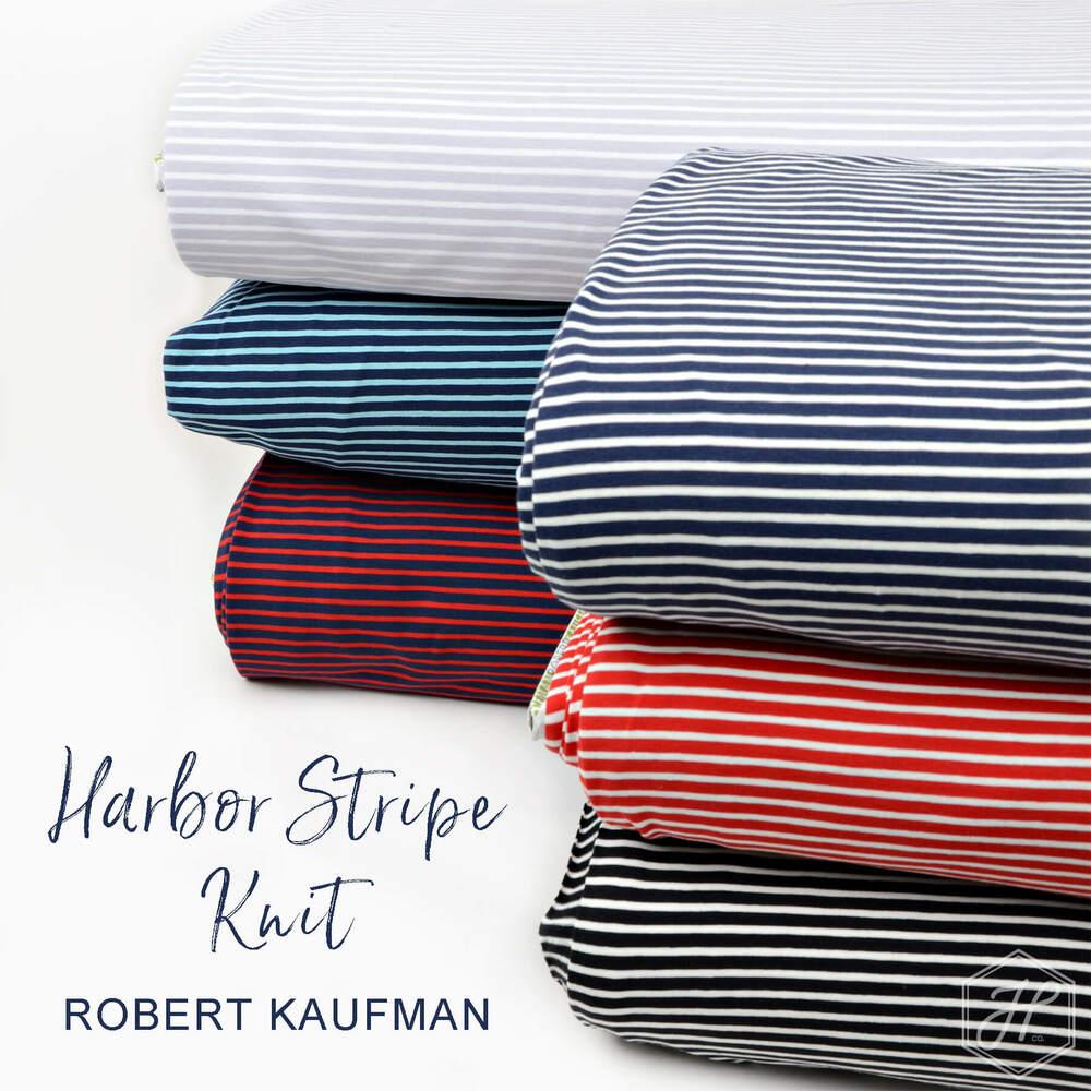 Harbor Stripe Jersey Knit Poster Image