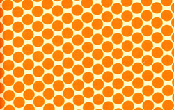 Full Moon Polka Dot in Tangerine