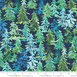 Trees in Christmas Navy