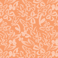 Painted Floral in Peach on Soft Nectarine
