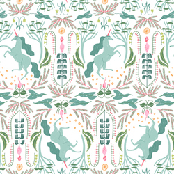 Unicorn Toile in White