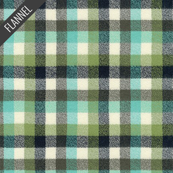 Mammoth Junior Check Plaid Flannel in Sage
