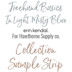 Freehand Basics Low Volume Sample Strip in Light Misty Blue