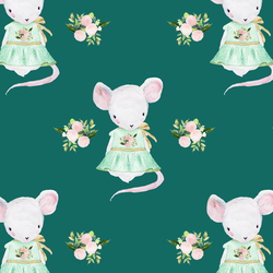 Little Lila the Mouse in Emerald