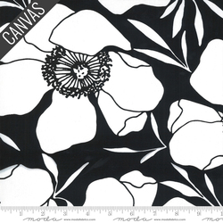 Moody Floral Canvas in Ink