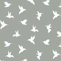 Hummingbird Silhouette in Sage