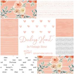 Darling Heart Fat Quarter Bundle in Vintage Rose