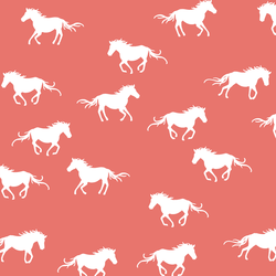 Horse Silhouette in Living Coral