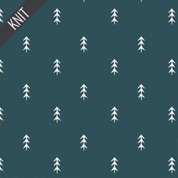 Simple Defoliage Knit in Foresta Blue