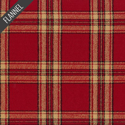 Mammoth Cardinal Plaid Flannel in Red