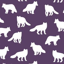 Fox Silhouette in Aubergine