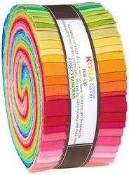 "Kona Solid 2.5"" Strip Roll in Bright"
