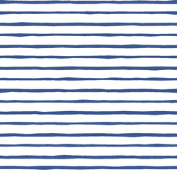 Artisan Stripe in Blue Jay on White