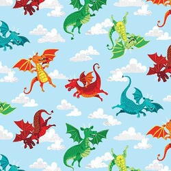 Dragons in Blue