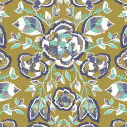 Stitch Floral in Gold