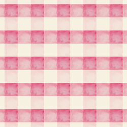 Watercolor Check in Rose Pink and Cream