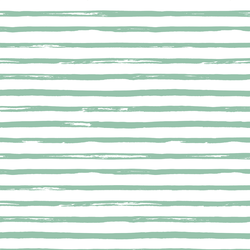 Spring Stripe in Green Willow on White
