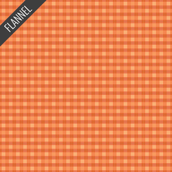 Plaid Flannel in Orange
