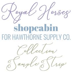 Royal Horses Sample Strip