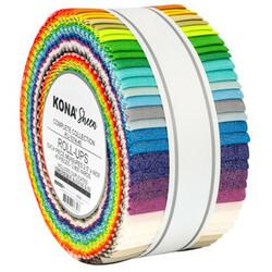 """Kona Sheen Solid 2.5"""" Strip Roll"""