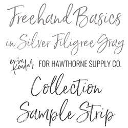 Freehand Basics Sample Strip in Silver Filigree Gray