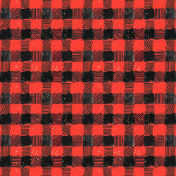 Painted Buffalo Plaid in Scarlet