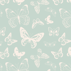 Boho Butterflies in Aqua