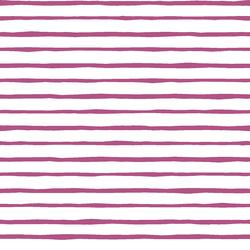 Artisan Stripe in Azalea on White