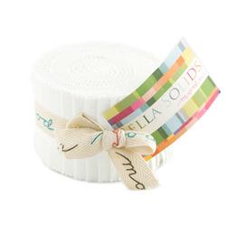Bella Solids Junior Jelly Roll in Off White