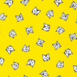 Cat Faces in Yellow