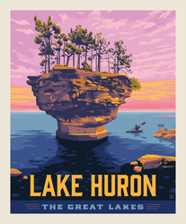 Poster Panel in Lake Huron
