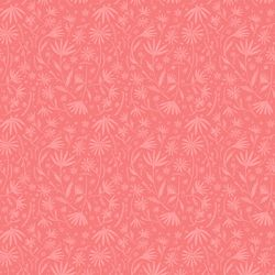 Packed Flowers in Coral