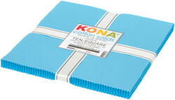 """Kona Solid 10"""" Square Pack in Horizon (2021 Color of the Year)"""