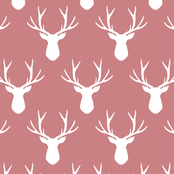 Stag Silhouette in Berry