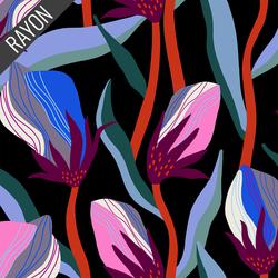 Bloom Rayon in Black