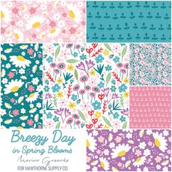 Breezy Day Fat Quarter Bundle in Spring Blooms
