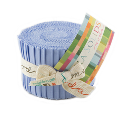 Bella Solids Junior Jelly Roll in Baby Blue