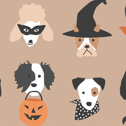 Large Halloween Pups in Autumn Brown
