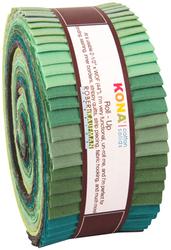 "Kona Solid 2.5"" Strip Roll in Spring Meadows"