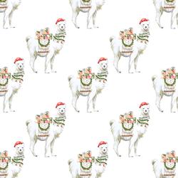 Little Festive Llama in White