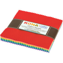 Kona Cotton Solids Charm Squares in New 1930's