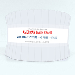 """American Made Brand 2.5"""" Strip Roll in Mist Gray"""