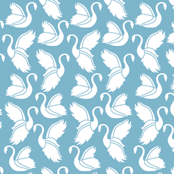 Swan Silhouette in Surf