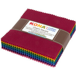 Kona Cotton Solids Charm Squares in Dark Colorstory