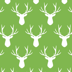 Stag Silhouette in Greenery