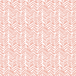 Feathered  Herringbone in Peony
