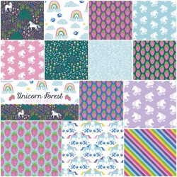 Unicorn Forest Fat Quarter Bundle