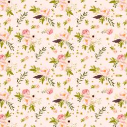 Little Bunny's Garden in Pale Peach