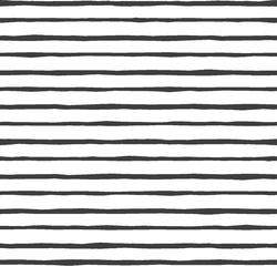 Artisan Stripe in Onyx on White